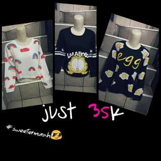 Tshirt sweeter just 30-35k