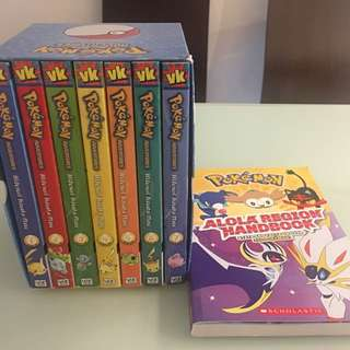 New Pokemon Adventures Vizkids box set comic books and bonus Alola Region Handbook