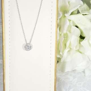 全新18K金9圍1鑽石吊咀10粒共0.40卡(40份)$2980HKD