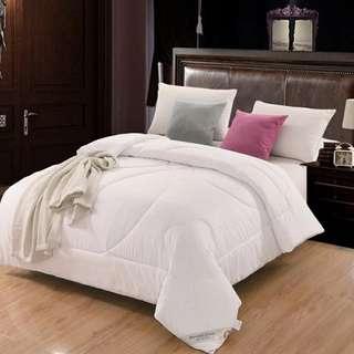 加厚絲棉被芯 雙人保暖全棉冬被(白!淡黃!粉紅!) 冬季特價清倉