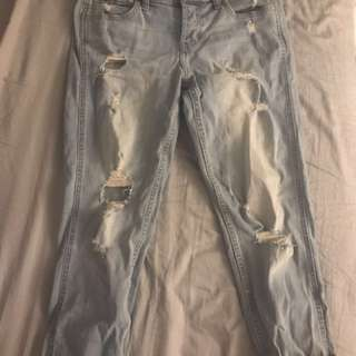RIpped boyfriend jeans from Hollister