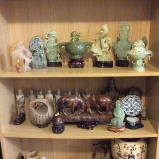 Antique Qing Dynasty Spinach Jade Incense Burner