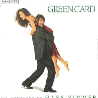 MY CD - GREEN CARD OST - MUSIC BY HAN ZIMMER/ FREE DELIVERY