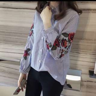 Floral sleeves shirt