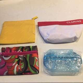 Clarins O.P.I CLINIQUE化妝袋四個一set賣