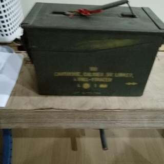 Old Army Metal Box