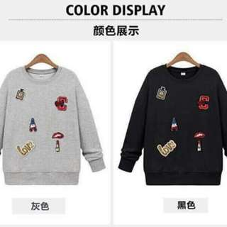 Sweater with Patches