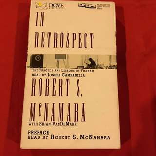 In Retrospect Lessons on Vietnam - Robert McNamara audio cassette tape