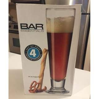 4 Beer Glasses