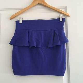 Royal Blue Mini Skirt