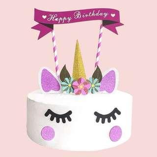 Free postage- unicorn cake accessories decoration