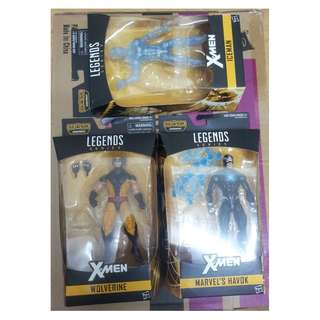 Marvel Legends X-Men 8隻 figures ( Wolverine, IceMan, Havok, Rogue, Kitty Pryde, Phoenix, Cable, Deadpool )