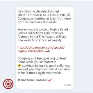 Thank you CAROUSELL. 💕