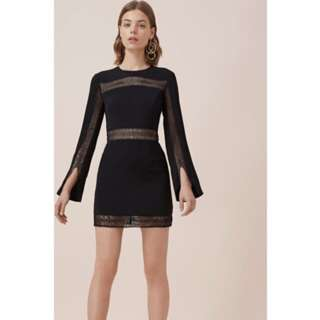 Keepsake Do it right black mini dress