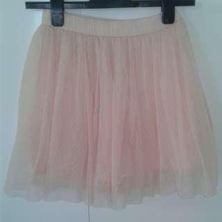 Peach tulle skirt
