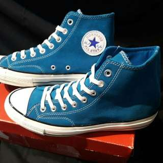 CONVERSE ALLSTAR CHUCK TAYLOR 1970s Hi Blue Navy. Leather Size:36 - 44  PREMIUM GOOD QUALITY