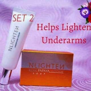 Nlighten underarm and kojic soap