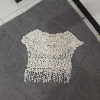 Fringed Knit Outer