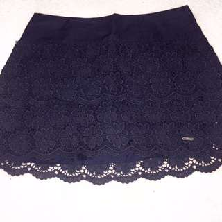 Hollister lace mini skirt