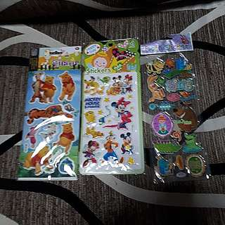 Assorted Stickers- pooh, Disney, animals