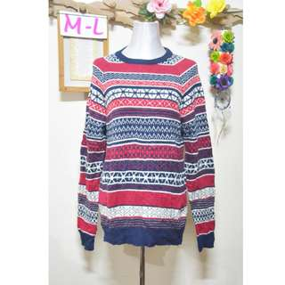 DIVIDED by H&M Aztec Pullover Sweater (Unisex) M-L