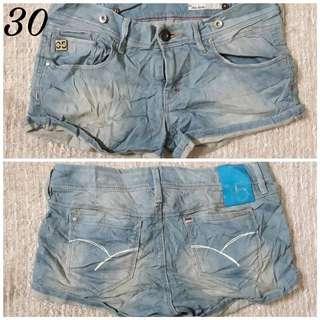 Denim shorts 25