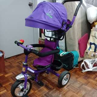 Stroller bicycle with safe guard