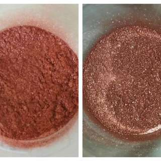 Metallic Ruddy Copper Mineral Pigment Eyeshadow (1/4 Gram Of Vegan Eye Shadow)