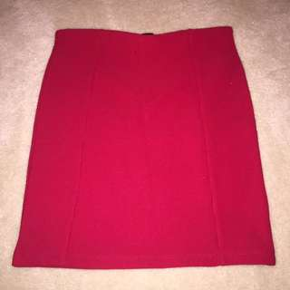 Forever 21 red mini skirt