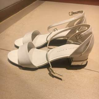 Charles & Keith White Heels
