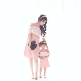 Mom & Baby Set Cheongsam Coral