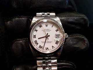 PREOWNED ROLEX Datejust, 78274 White Rolesor, 31mm, Boy-size, Y Series @ Year 2004 Unisex watch