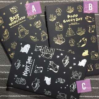 Black Notebooks 5x8