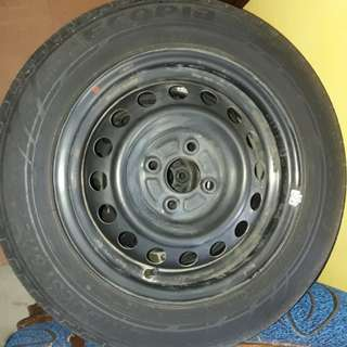 Steelies w/ tires for Mirage G4