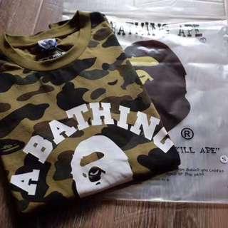 A bathing ape X Champion tee