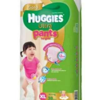 Huggies Ultra Pants Girl XL38 (fixed Price)