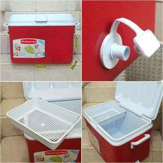 Cuci Gudang Coolbox Rubbermaid 45.4L Cooler Box es Ice Chest