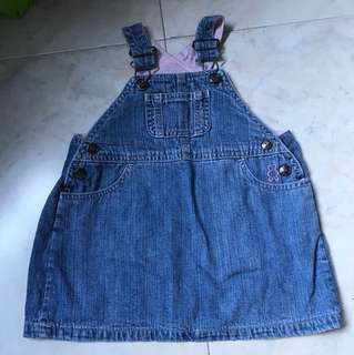 Denim overall suit for 18m to 24m