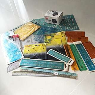 💥Stencils, Ruler, Hole Puncher All $20💥