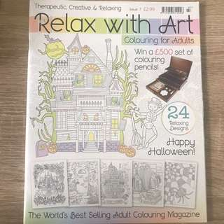 Relax with Art coloring book