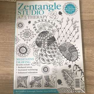 Zentangle studio art therapy