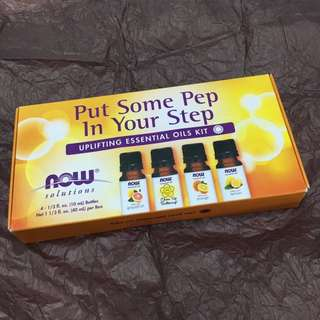 NOW Put Some Pep In Your Step Essential Oils Kit