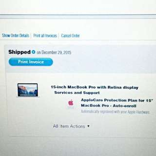 "Brand New And Sealed 15"" MacBook Pro Retina With AppleCare"