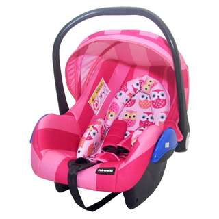 FAIR WORLD - INFANT CARSEAT BC320 (PINK/GREY/GREEN/BLACK)