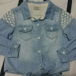 Authentic Zara Kids Denim/Jeans Shirt #NYB50 #MidJan55