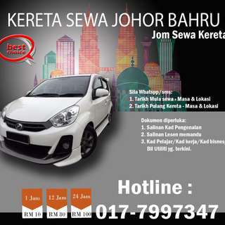 Kereta Sewa Johor Bahru