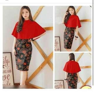 2in1 cape dress