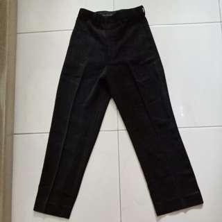 Celana panjang pria hitam polos