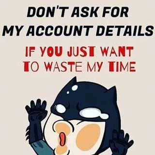 Pls don't waste my time and yours‼️