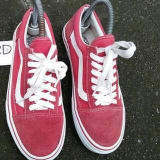 Vans mono red suede Old Skool